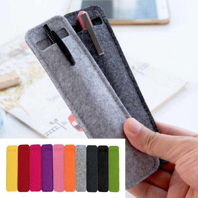 Fashion New Small Unisex Adult Kids Cosmetic Makeup Bag Pen Pencil Case Bag Holder Protective Felt Storage Stationary Bag