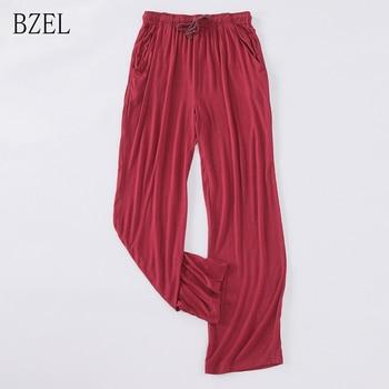 0f501a9d15757 BZEL новые весенне-осенние однотонные длинные брюки женские Модальные пижамы  домашние штаны пижамные штаны свободные
