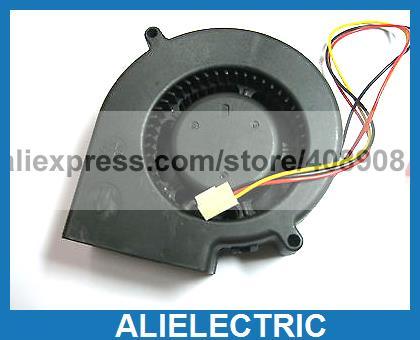 4 Pcs Brushless DC Cooling Blower Fan 9733 3 Wires 12V цена