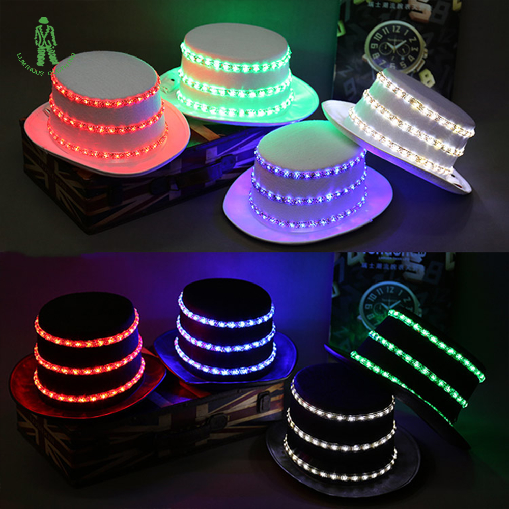 Free Shipping LED Lighting Sequins Hat Hip Hop Jazz Hats Cap Club Party Stage Dancer Wear Flash Hats Rechargable BatteryFree Shipping LED Lighting Sequins Hat Hip Hop Jazz Hats Cap Club Party Stage Dancer Wear Flash Hats Rechargable Battery