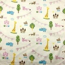 Мультяшные Животные Жираф дерево повязки-банданы Furoshiki шарф носовые платки столовые приборы так много видов использования/ хлопок размер 48 см(+-1