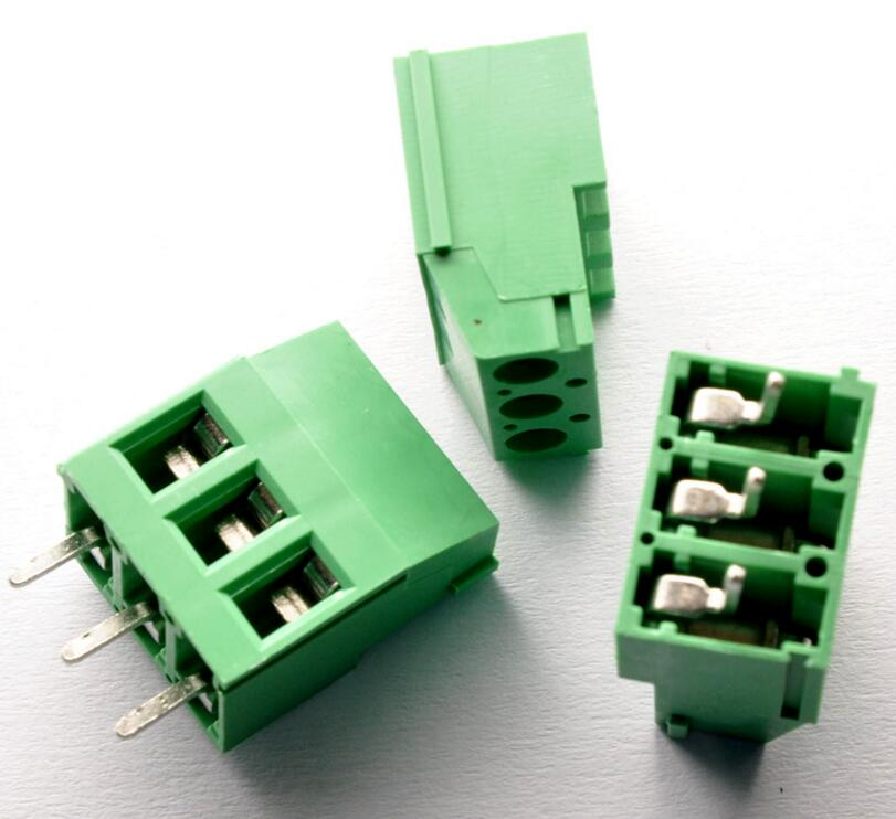 100pcs 3 Pin Screw Terminal Block Connector 5mm Pitch G 20 pcs 126 3p 3pin 5mm pitch screw terminal block 300v 10a