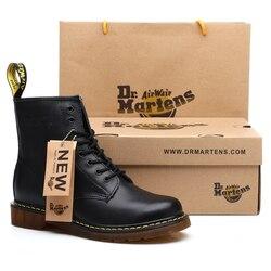 Genuine leather Men boots Dr. Martens Winter ankle boots fashion shoes Lace Up Shoes For men high quality Vintage Mens shoes