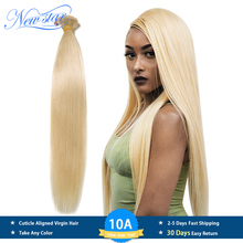New Star Brazilian 613 Straight Hair Weaving 1 3 4 Platinum Bundles 100 Remy Human Hair