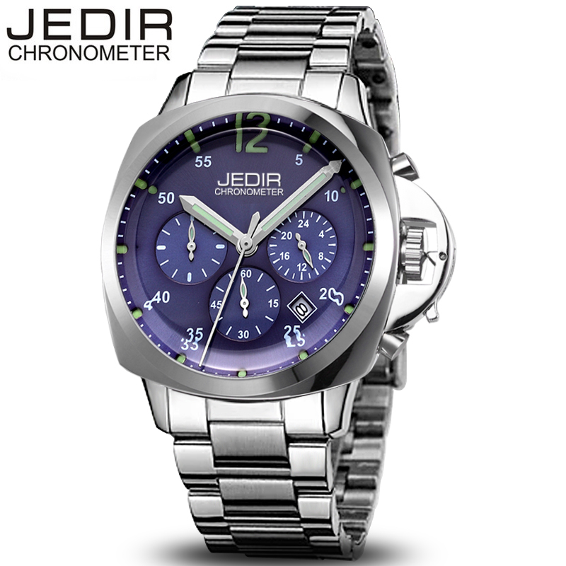 JEDIR Relogio Masculino Mens Watches Business Quartz Luminous Sports Stainless Steel Waterproof Wristwatch Christmas gift N78 relogio masculino jedir mens watches top brand luxury business quartz watch men sports stainless steel waterproof wristwatch