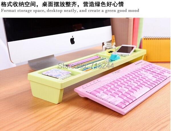 3color Abs Multi Function Keyboard Shelf Storage Rack