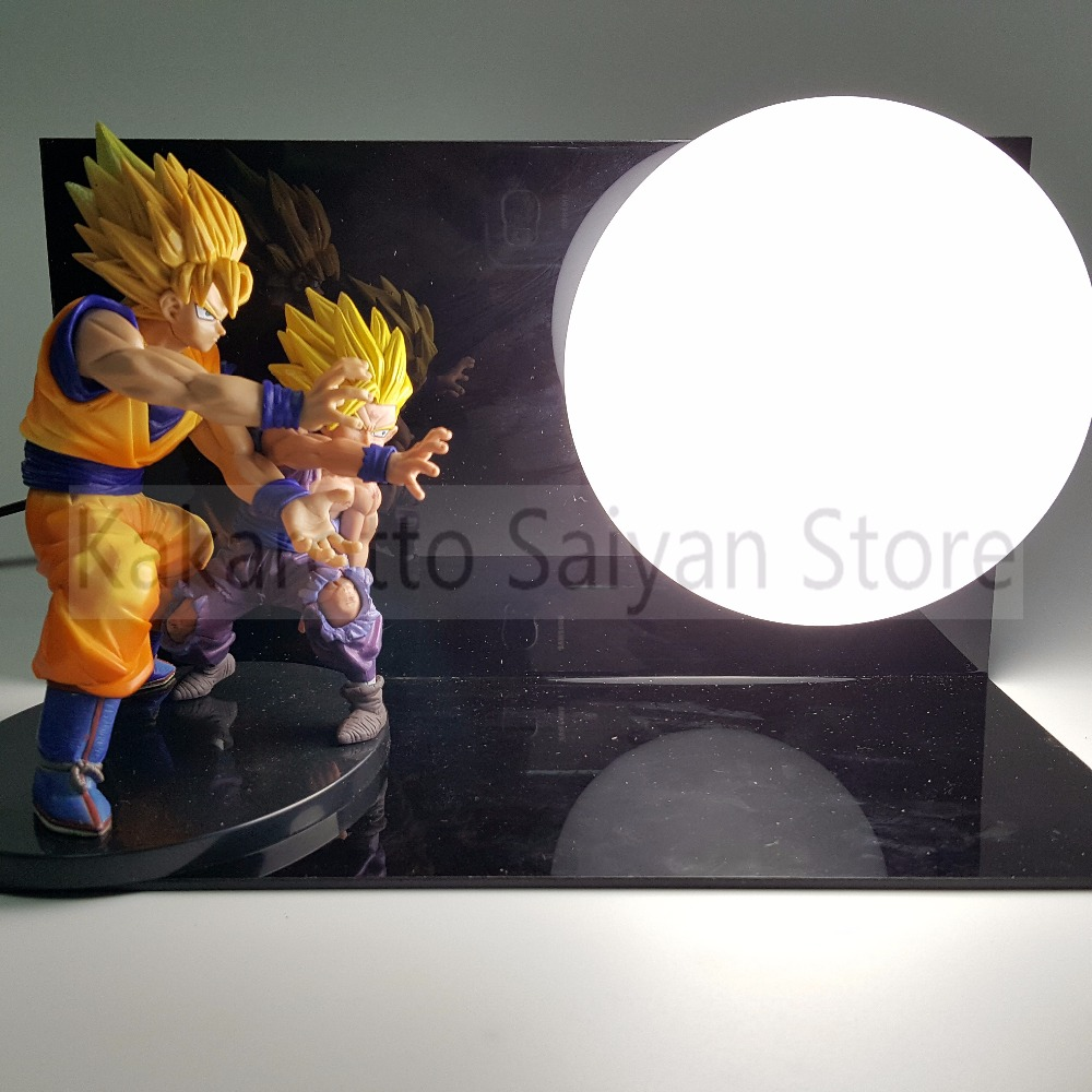 Dragon Ball Z Action Figures Goku Gohan Father Son PVC Anime Dragon Ball DIY Collectible Model Toy Esferas Del Dragon+Ball+Base dragon ball z shenron pvc figure figuras dbz dragon ball z model toy esferas del dragon 7pcs pvc balls shelf dragonball doll