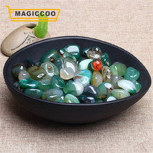 MAGICCOO 100g/Pack GRÜN ACHAT Raw Edelstein Ornament Poliert Quarz Labradorit Handwerk Aquarium Dekoration Stein(China)