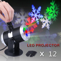 4W AC 100 240V Rotationg LED Laser Stage Projector Spotlight For Party KTV Pub Bar Halloween