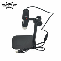 50X To 500X USB LED Digital Electronic Microscope Magnifier Camera Black