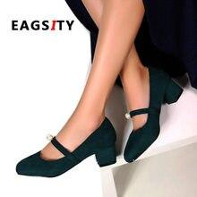 fe2c36908 Mary Jane sapatos para as mulheres calcanhar bloco das senhoras vestido  sapatos de festa de dança