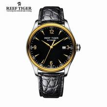 2017 New Reef Tiger/RT Watches Business Watches Mens Luxury Brand Automatic Date Watch Genuine Alligator Leather Watches RGA823