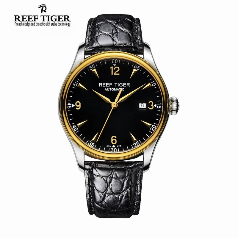 Best Selling Automatic Men Dress Business Watch Reef Tiger Classic Heritage Stainless