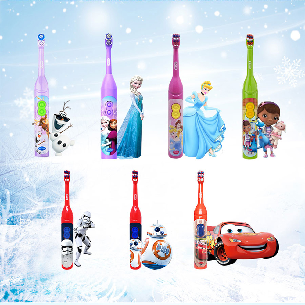 Oral B Sonic Toothbrush for Children Oral Care Kids Battery Power Rotating Tooth brush For Child 3+ 1