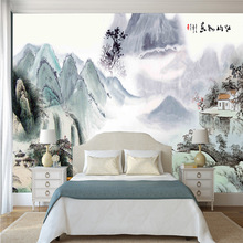3D Extra Thick Literary Large Mural Picturesque Wash Painting for TV Sofa Bedroom Sitting-room Study Wall Home Decor