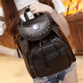 Japan and Korean style 2016 Women Backpack soft  PU Leather Black Shoulder School Bags For Teenagers Girls  Casual Travel Bags