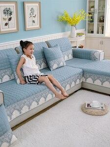 Image 3 - Four seasons sofa cushion, universal non slip sofa cover cushion, European full cover autumn and winter