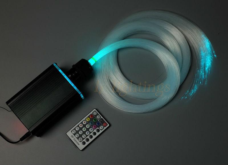 Decoration fiber optic light kit optical fiber starry sky celing light RGB 18W led light source+0.75mmx3mx300 ps fibres