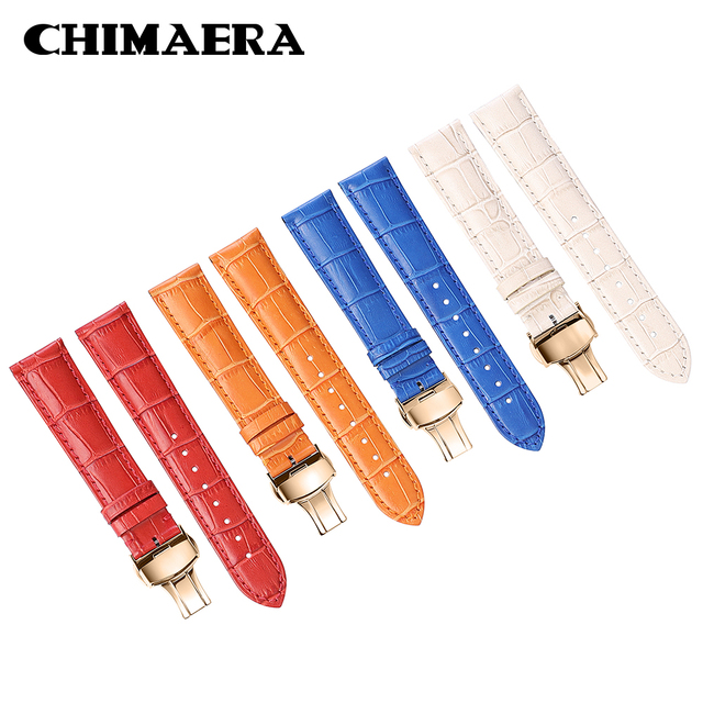2faaffe3cd8 QUIMERA Genuine Calf Leather Watch Strap Pulseira 22 20 18 16 14mm mm mm mm  mm