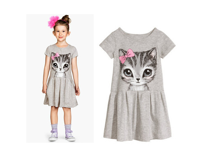 e8b63c26711a0 US $4.04 |FANAIDENG Hot Sale New 2017 summer girl dress cat print grey baby  girl dress children clothing children dress 0 8years-in Dresses from ...