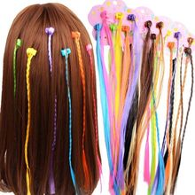 6pcs/Fashion small claw clip beaded color wig twist braid straight hair children's holiday DIY hair accessories claw hair clip 6pcs
