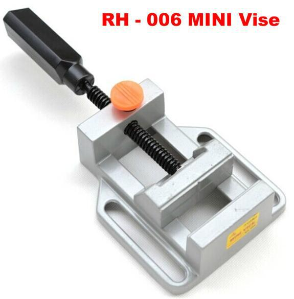 Mini vise RH-006 Parallel-jaw vice table drilling machine stand support engraving object with hot mini electric drilling machine variable speed micro drill press grinder 1pc bg 5168e 1pc bg6300 1pc 2 5 parallel jaw vice