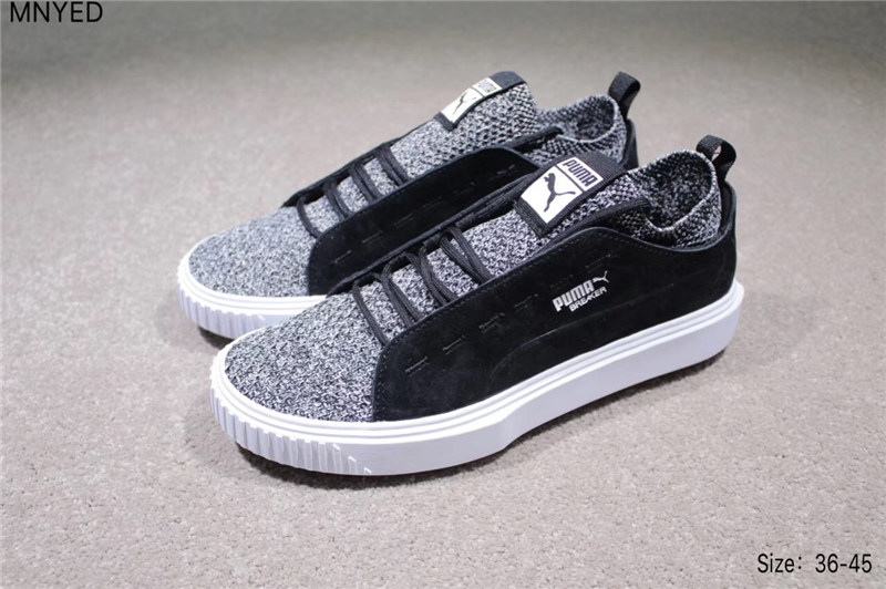446db8620ba 2018 PUMA Breaker Knit Sunfaded Mens Black Suede Lace up Women s Sneakers  Shoes badminton shoes size 36-44