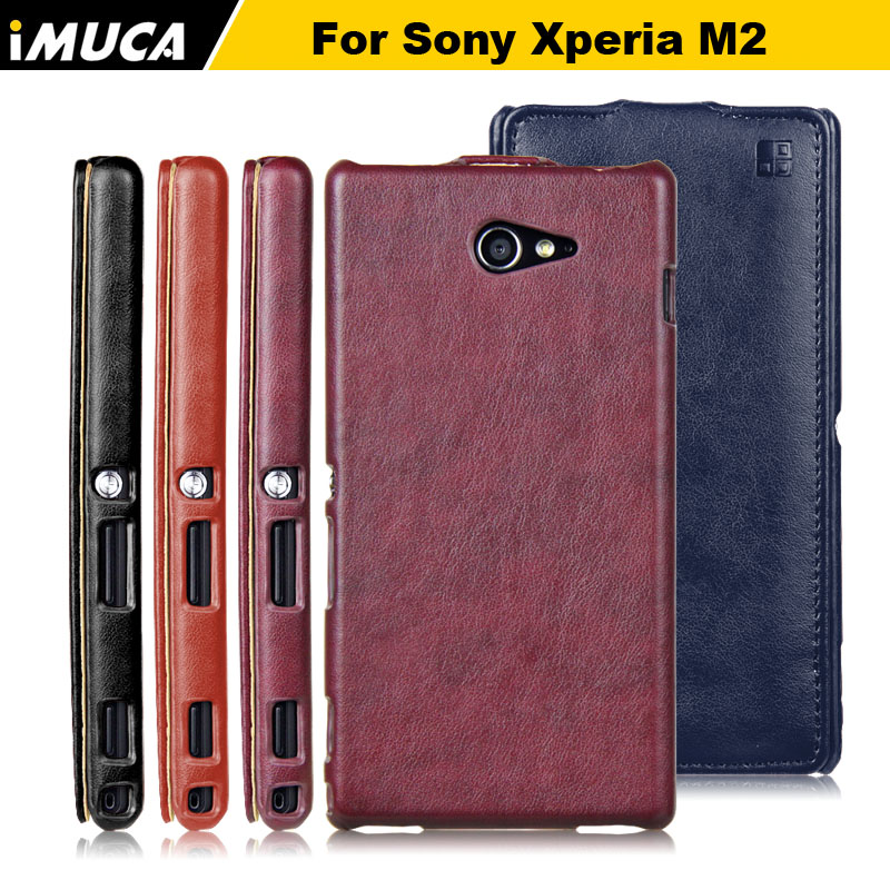 Phone cases für sony m2 luxus leder flip case für sony xperia...