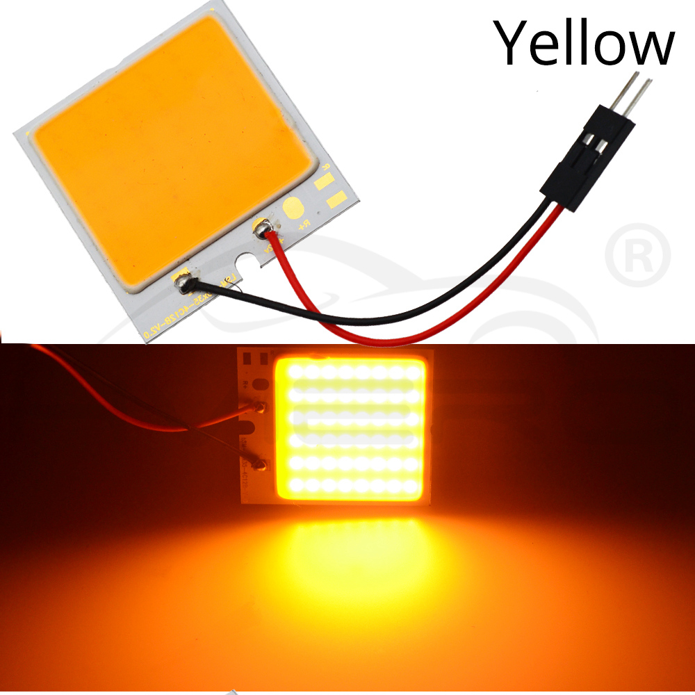Hviero Red White T10 W5W C5W C10W 24 36 48Smd Cob Led Panel Auto Reading Map Lamp Panel light Dome Festoon BA9S 3Adapter DC 12v Car Led