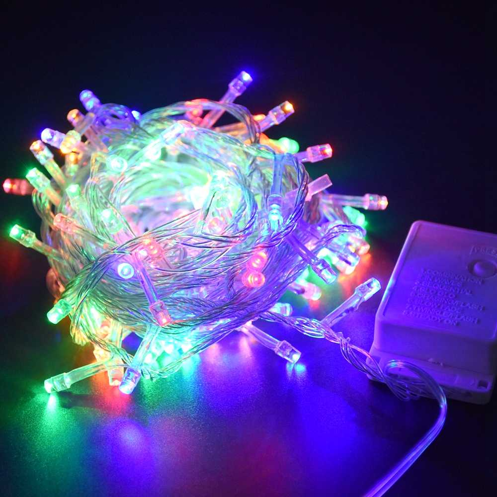 Fairy Lights 10M 100LED String Light 110V 220V Christmas Holiday Garland Lights for Home Party Wedding Christmas Decoration
