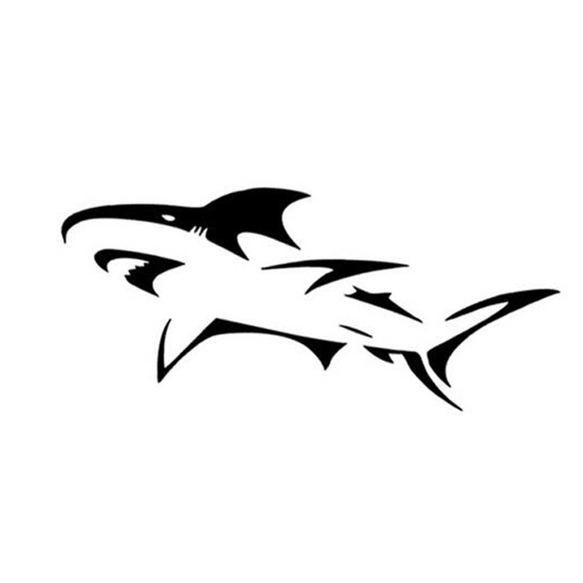 a40f43959 15.5*7CM Tribal Shark Graphic Car Sticker Fun Motorcycle Reflective Car  Stickers And Decals CT-795