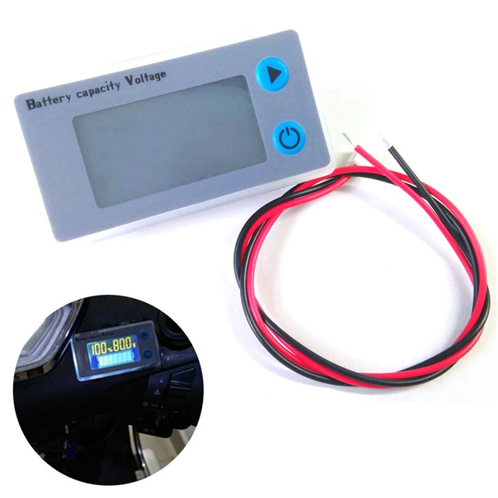 10-100V LCD Car Acid Lead Lithium Battery Capacity Indicator Universal Digital Voltmeter Voltage Tester Monitor JS-C33