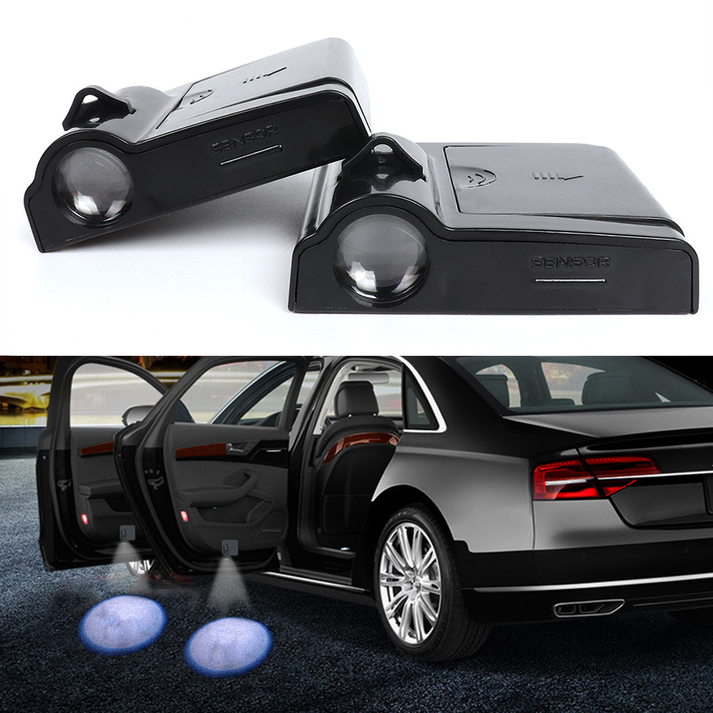 2PCS <font><b>LED</b></font> 3D Car Door Warning Light Projector Logo Ghost Shadow Lamp For <font><b>Skoda</b></font> <font><b>octavia</b></font> 1 2 a5 a7 rapid fabia superb yeti kodiaq image