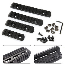 5 7 9 11Slot Rifle Polymer M-LOK 20mm Picatinny Weaver Rail Section Set for Hand Guard Hunting