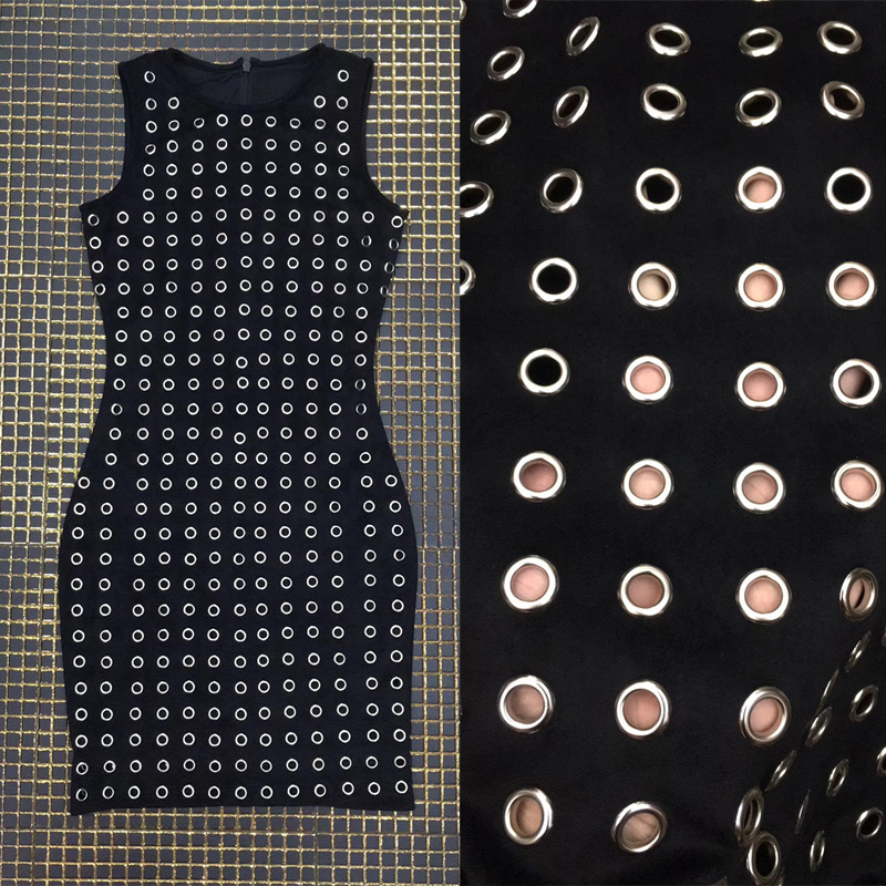 Noir Partie Moulante En La Court De Fille Nouveau Manches Forte Perles Mode Luxe Sans Robe Stretch Femmes Bandage Pour Date Gros wCXTO