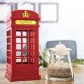 Обновление старинные Лондон телефонная будка дизайн night light USB Аккумуляторная Датчик света Регулируемая Настольная Лампа Освещения