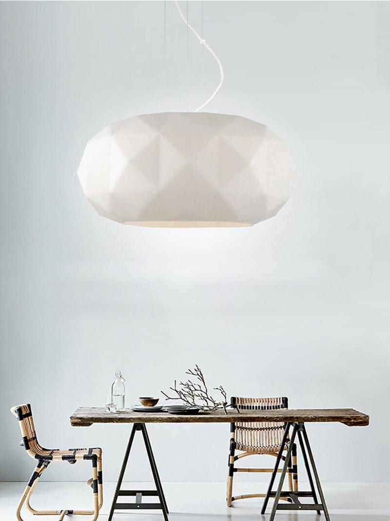 Phube освещения светодиодный современный подвесной светильник творческий Стекло алмазный кулон освещения белый детская комната потолочный