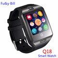 Новый Q18 Шагомер Smart Watch С Сенсорным Экраном Камеры TF Карта Bluetooth Smart Watch для Android IOS Телефон PK DZ09 U8 GT08 A1