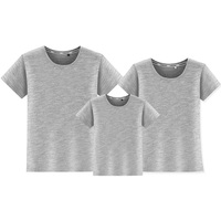 Family Matching Clothes Mother Daughter Son Outfits Cotton Casual Short Sleeve T Shirt Family Look Father