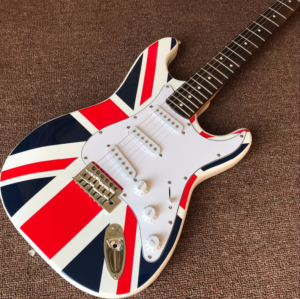 New arrive Custom Shop ,national flag design ST Electric Guitar Real photo shows ...