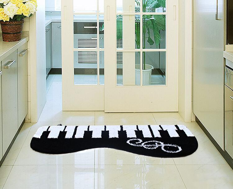 45*80 cm creativo Pianos Alfombras comedor vivo dormitorio alfombras ...