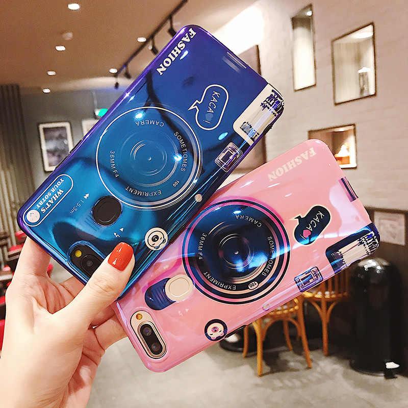 Мультяшный лазер держатель чехол для Xiaomi Redmi Note 6 5 5A 4 4X Pro мягкий Камера чехол для Redmi 5 6 Plus Y1 Y2 крышка телефон килифи