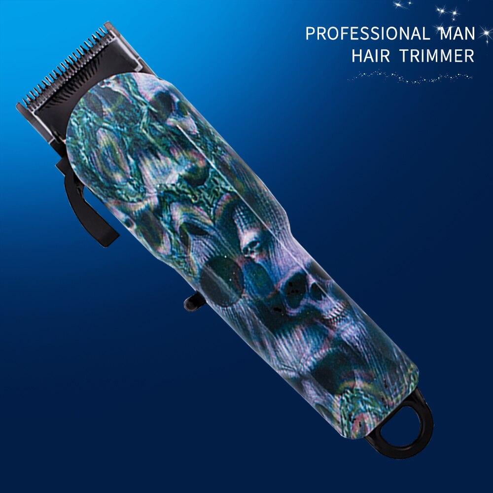 Professionnel coupe cheveux Machine tondeuse cheveux électrique USB tondeuse cheveux Interchangeable coloré épilation homme style outils