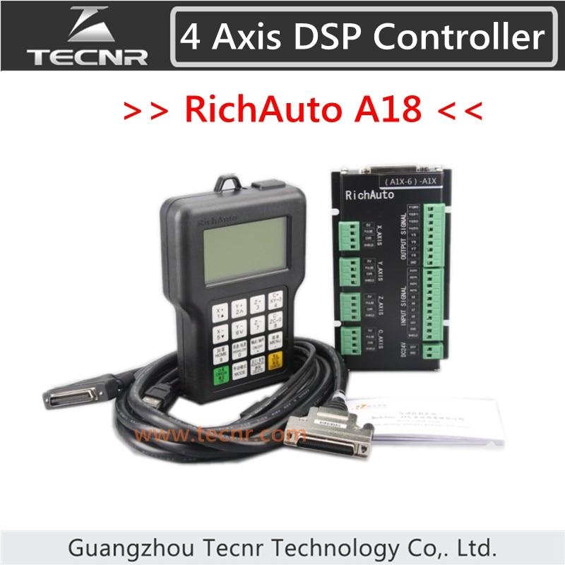 TECNR RichAuto DSP A18 4 axis CNC controller A18S A18E USB linkage motion control system for cnc router cnc engraver original richauto dsp a11s or a11e controller for cnc router 3 axis cnc router control system