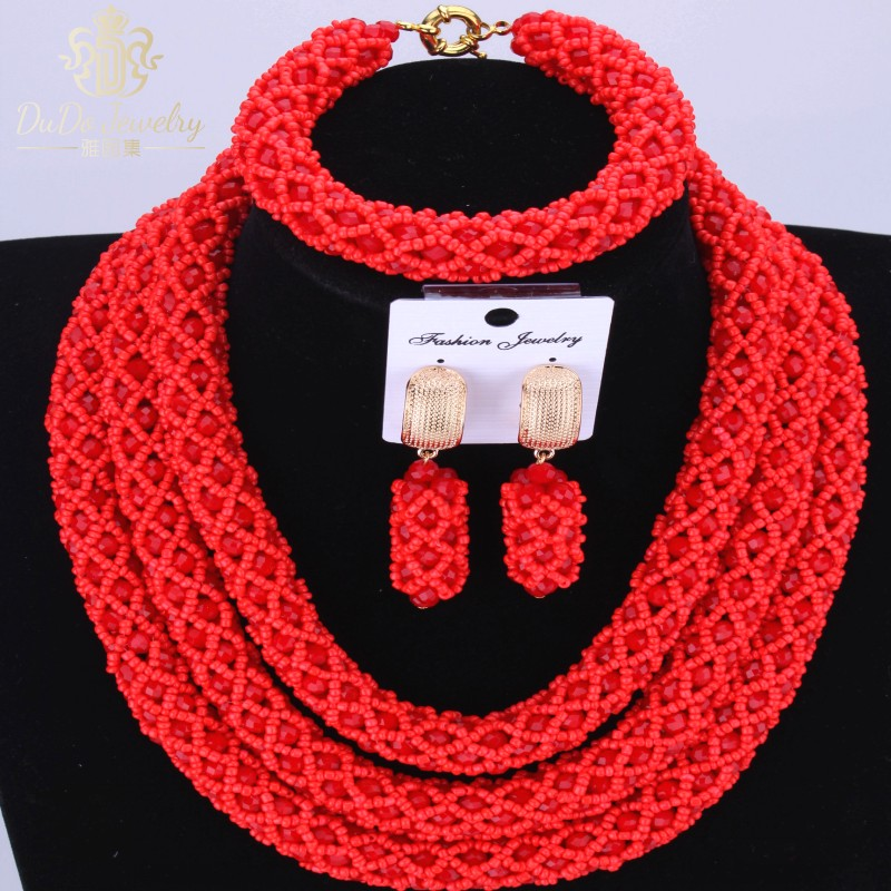 2016-os afrikai gyöngy ékszerkészlet nőknek Török nyaklánc - Divatékszer