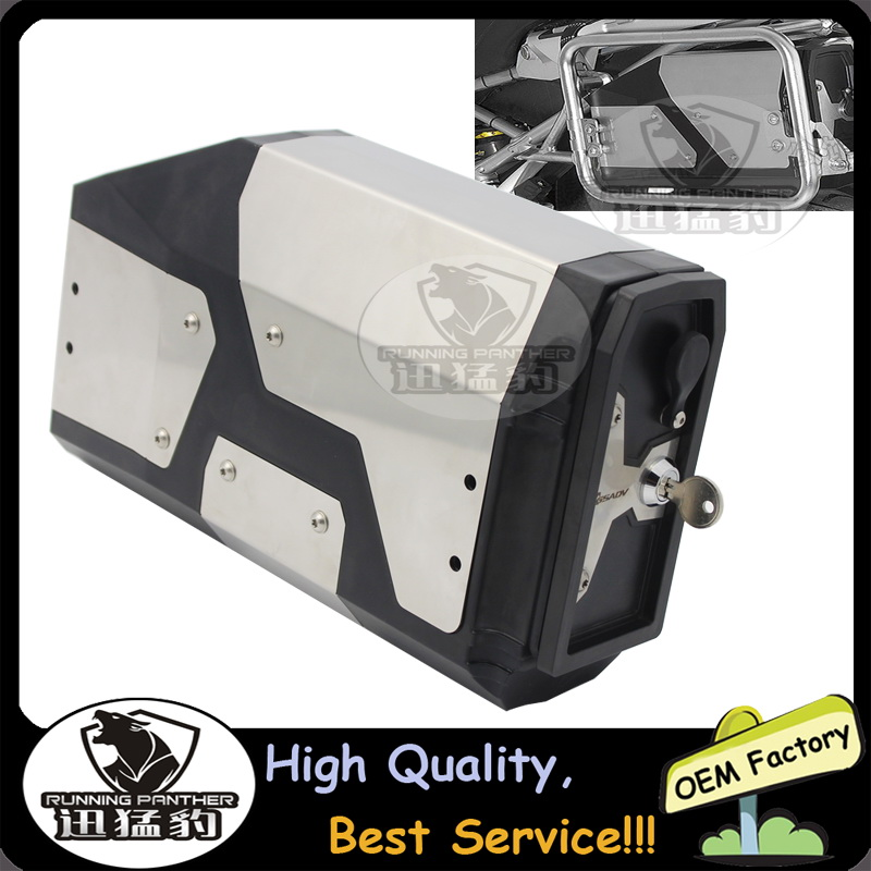 Decorative Aluminum Box Toolbox Suitable for BMW side bracket 4.2 Liters For BMW R1200GS LC Adventure 2013-2017 R1200GS computer component