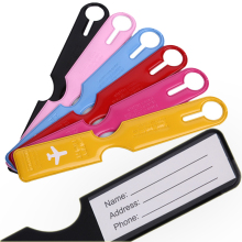1PC PVC Label Airplane Nama Alamat Nota Bagasi Tag Boarding Pass Travel Luggage Tag Luggage Accessories Luggage Tag