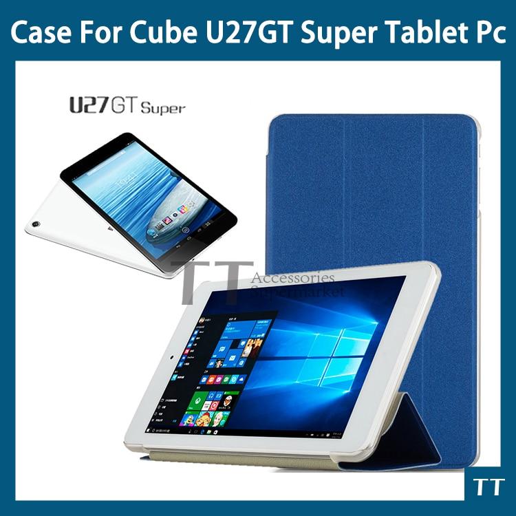For Newest Cube U27GT Super case Fashion Ultra-thin case For cube u33gt/Cube U27GT Super + free Screen Protector + Touch pen ultra thin 7 touch screen lcd wince 6 0 gps navigator w fm internal 4gb america map light blue