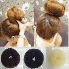 2018 корейский стиль бутон голова шаровая Головка диск пончики Блюдо Волосы Парикмахерские инструменты для женщин аксессуары для волос 3 цвета