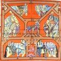Новый Оранжевый Лошадь 90*90 см Дамы 100% Шелк Саржевого Шарф Обертывания Новый Стиль Площадь Mulberry Шелковый Шарф отпечатано На Осень